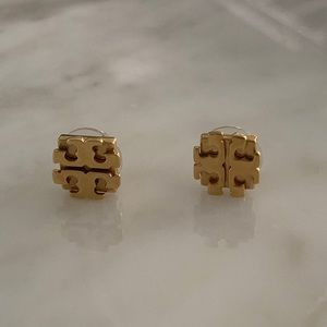 Tory Burch gold squared stud earrings